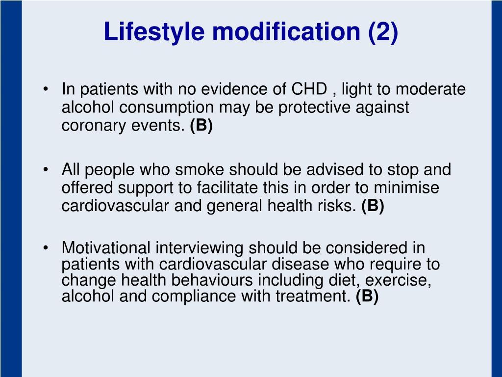 Lifestyle modification (2)
