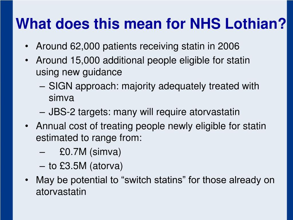 What does this mean for NHS Lothian?