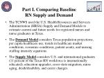 part i comparing baseline rn supply and demand