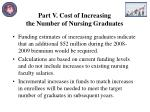 part v cost of increasing the number of nursing graduates
