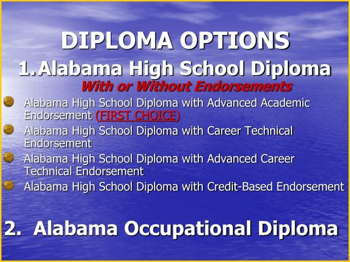 DIPLOMA OPTIONS