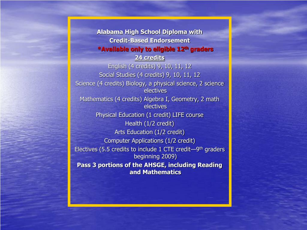 Alabama High School Diploma with