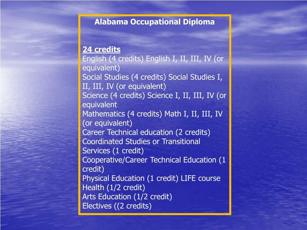 Alabama Occupational Diploma
