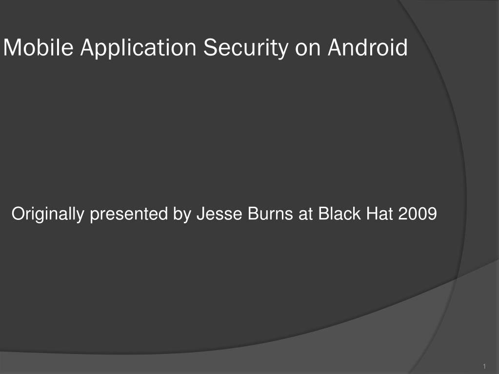 mobile application security on android l.