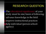 research question6
