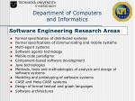 software engineering research areas