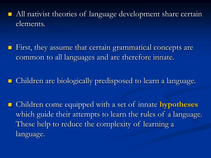nativist theory of language development