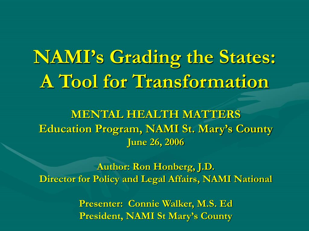 nami s grading the states a tool for transformation l.