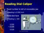 reading dial caliper