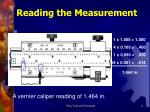 reading the measurement
