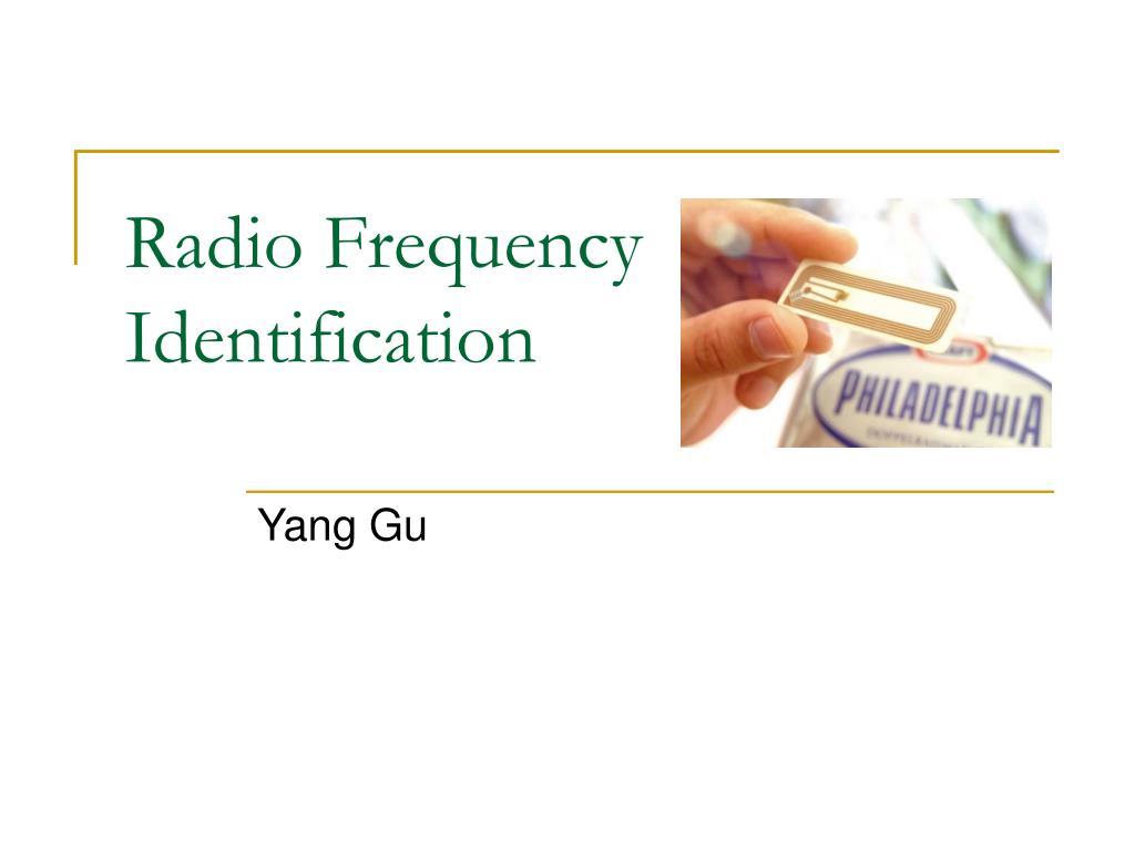 radio frequency identification l.