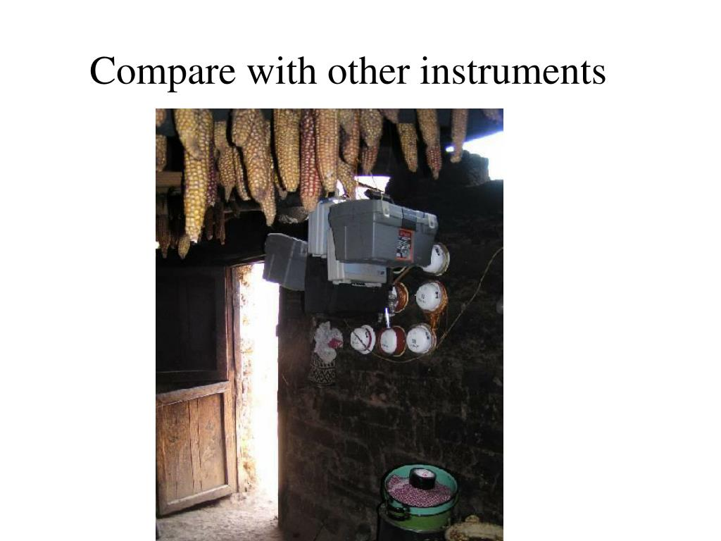 Compare with other instruments