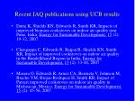 recent iaq publications using ucb results
