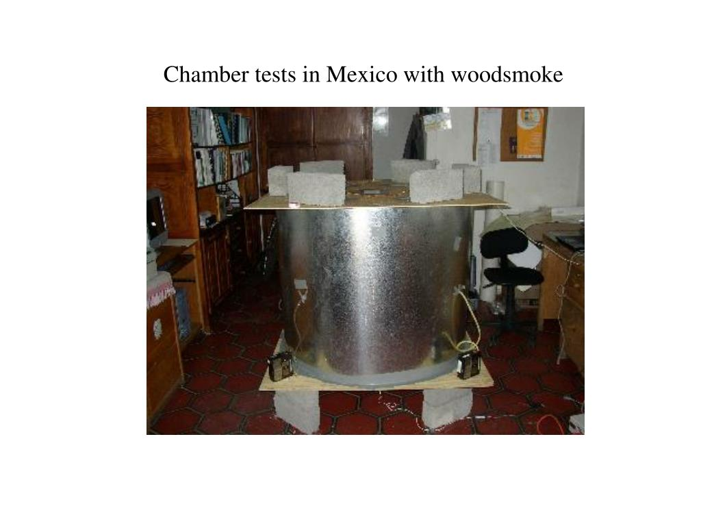Chamber tests in Mexico with woodsmoke