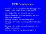 ucb development