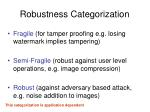 robustness categorization