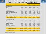 corn production costs national