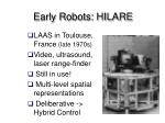 early robots hilare