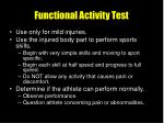 functional activity test