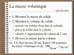 la masse volumique protocole12