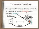 la structure atomique