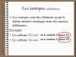 les isotopes d finition