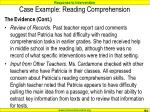 case example reading comprehension104