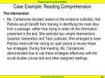 case example reading comprehension105