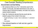 case example reading comprehension108