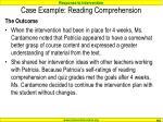 case example reading comprehension110