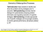 elements of metacognitive processes