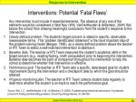 interventions potential fatal flaws
