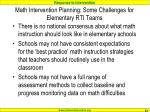 math intervention planning some challenges for elementary rti teams