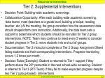 tier 2 supplemental interventions