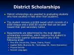 district scholarships