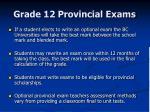 grade 12 provincial exams8