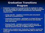 graduation transitions program