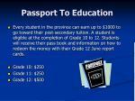 passport to education