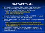 sat act tests