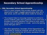 secondary school apprenticeship