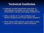technical institutes