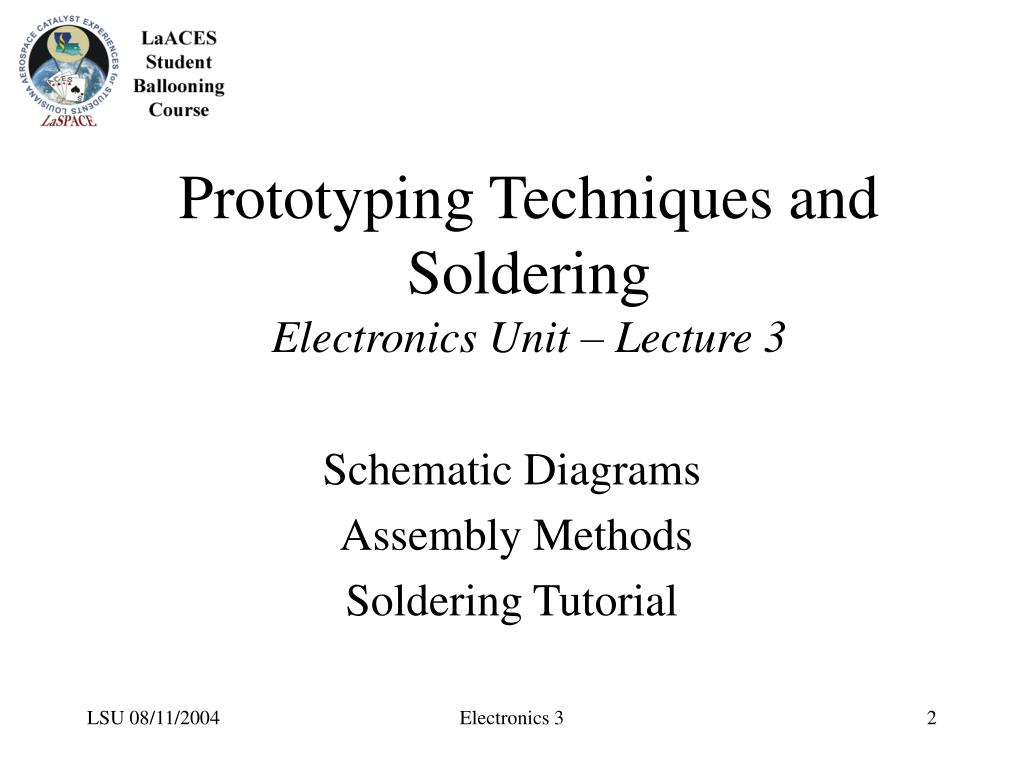 Prototyping Techniques and Soldering