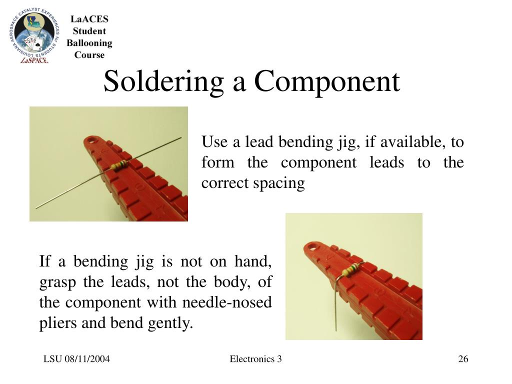Soldering a Component