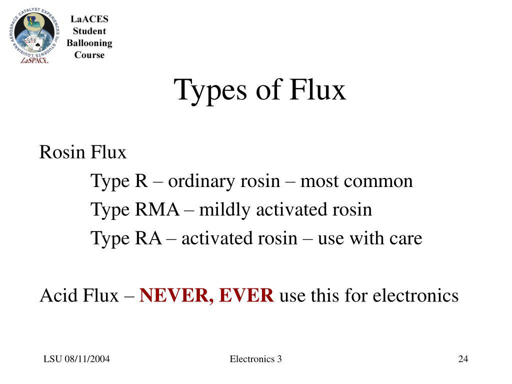 Types of Flux