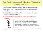 bottom up emission inventory evaluation 2 of 2