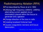 radiofrequency ablation rfa