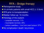 rfa bridge therapy