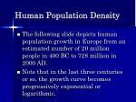 human population density