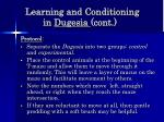 learning and conditioning in dugesia cont58