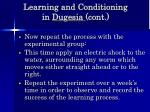 learning and conditioning in dugesia cont59
